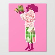 Floral Coat Pink Canvas Print