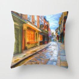 York Shambles Art Throw Pillow