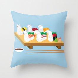 Alpaca Sushi Throw Pillow