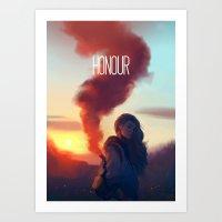 zuko Art Prints featuring HONOUR by Caleb Thomas