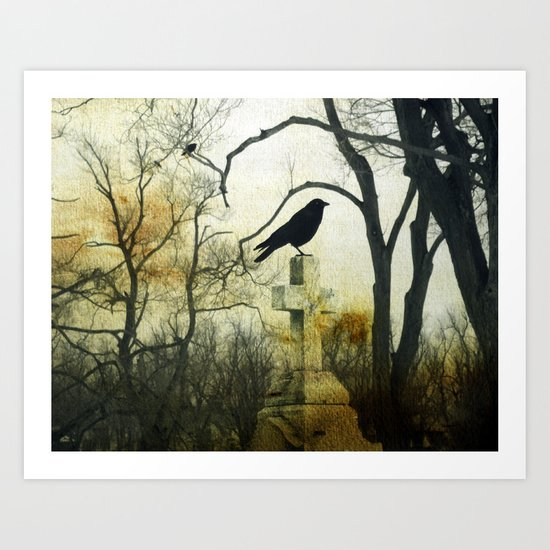 Cross Perch Art Print