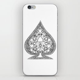 Ace of Spades Black and White iPhone Skin