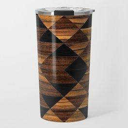 Urban Tribal Pattern 11 - Aztec - Wood Travel Mug