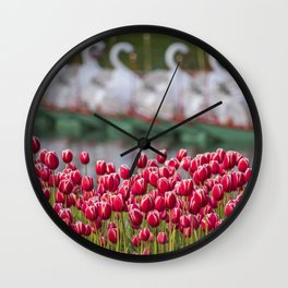 Spring Roses in the Boston Public Garden Wall Clock