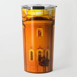 glowing church Travel Mug