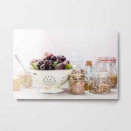 fruits, vegetables, grains, legumes and nuts Metal Print