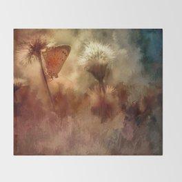 A Butterfly Dusk Throw Blanket