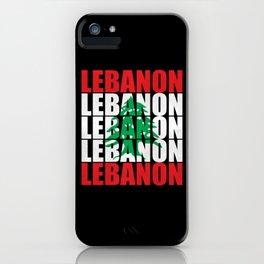 Lebanon Flag Beirut Support Lebanese iPhone Case