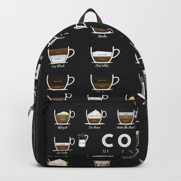 Coffee Types Chart Backpack