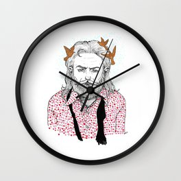 The guy who brought me all the hearts Wall Clock