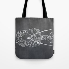 Lobster Butcher Diagram (Seafood Meat Chart) Tote Bag
