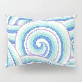 Blue Swirls Pillow Sham