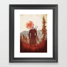 witcher geralt variation print Framed Art Print