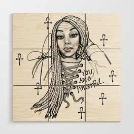 #STUKGIRL ASHLITA Wood Wall Art