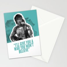 Badass 80's Action Movie Quotes - Rambo: First Blood Stationery Cards