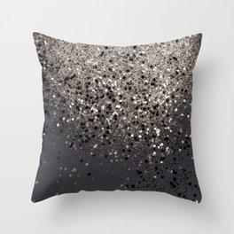 Sepia Glitter #1 #shiny #decor #art #society6 Throw Pillow