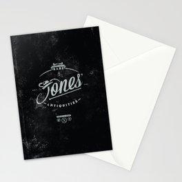 """Jones' Rare Antiquities"" - silver version Stationery Cards"