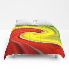Twirl Red Green Gold Comforters