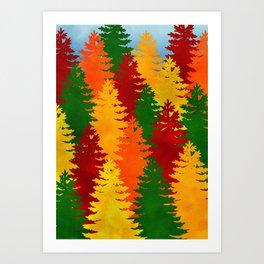 Autumn Trees Art Print