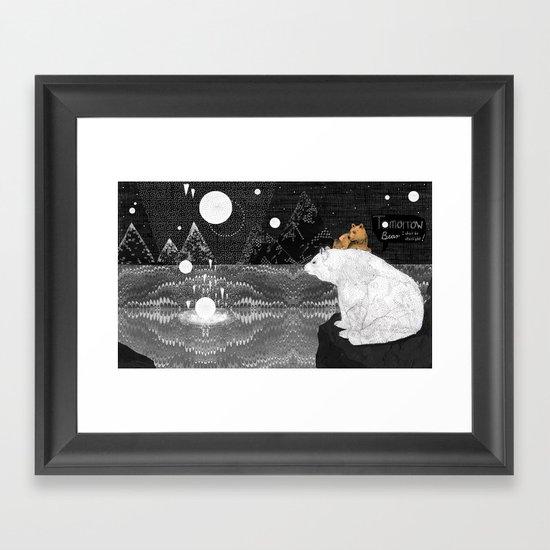 Tomorrow Bear Framed Art Print
