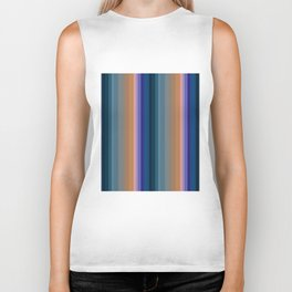 Multi-colored striped pattern 2 Biker Tank