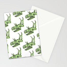 Triceratops Dinosaur Skulll & Skeleton Pattern Stationery Cards