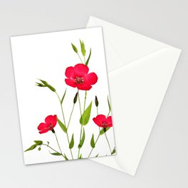 wild red flax Stationery Cards