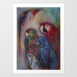 Well Hello Polly Art Print