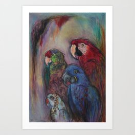 Well Hello Polly Art Print