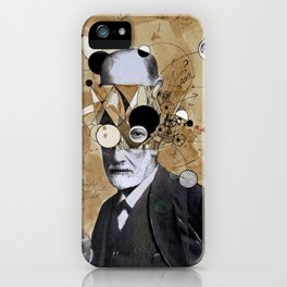FREUD WITH ABSTRACT CONCEPTS iPhone Case
