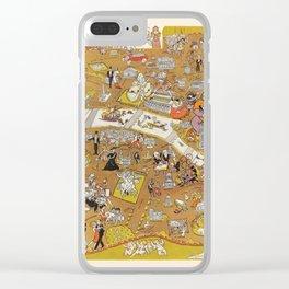 Map Of Paris Clear iPhone Case