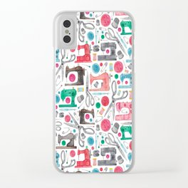 Sewing Pattern. Clear iPhone Case