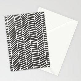 Herringbone – Black & White Stationery Cards