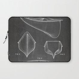 Canoe Patent - Kayak Art - Black Chalkboard Laptop Sleeve