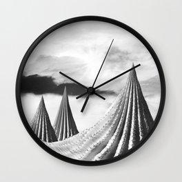 Prickly Peaks Wall Clock