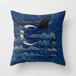 LUNA CAT by Raphaël Vavasseur Throw Pillow