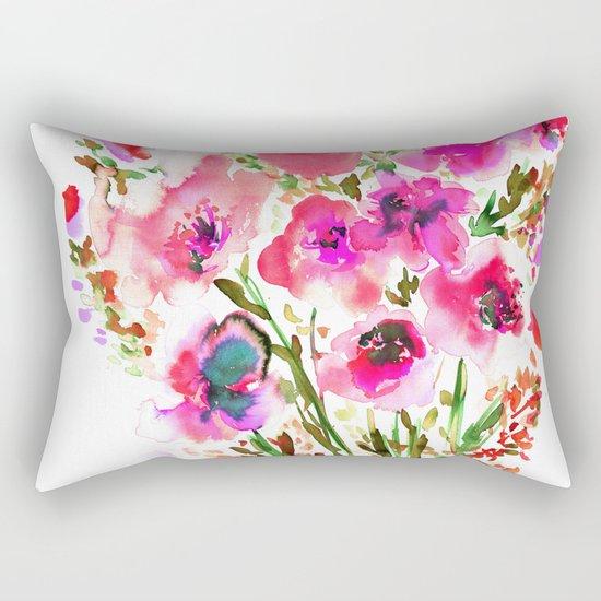 Bouquet Pink Rectangular Pillow