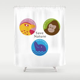 Save Nature Shower Curtain