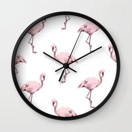 Simply Pink Flamingo in Pink Flamingo Wall Clock