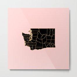 Washington map Metal Print