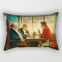 The Story of Coffee, 1940 by Newell Convers Wyeth Rectangular Pillow
