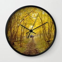 Fall's Golden Tunnel Wall Clock