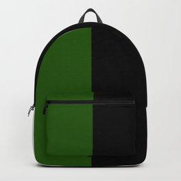 Team Colors 7...green ,black,white Backpack