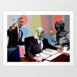 Eagle at the Office Art Print