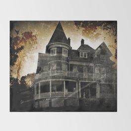 Haunted Hauntings Series - House Number 4 Throw Blanket