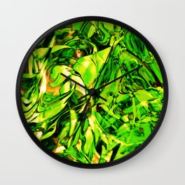 Fluid Painting 3 (Green Version) Wall Clock