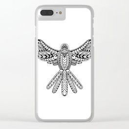 Dove Tribal Tattoo Clear iPhone Case