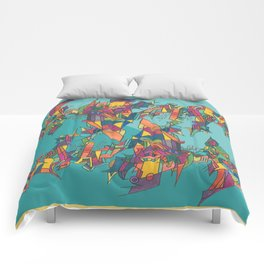 Stained Fractures Comforters