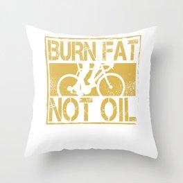 Hipster Bike Eco Throw Pillow
