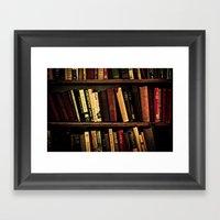 Book Shelf Framed Art Print